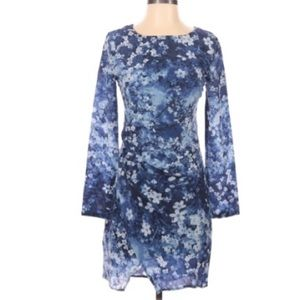 Pipelime Dress  Blue Floral  All Silk lined  XS